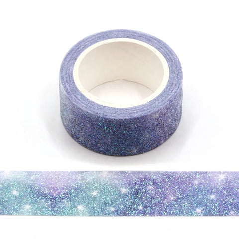 Starry Sky Wide Glitter Washi Tape