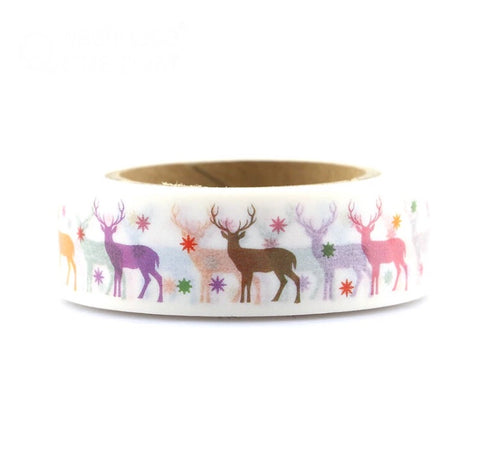 Rainbow Reindeer Washi Tape