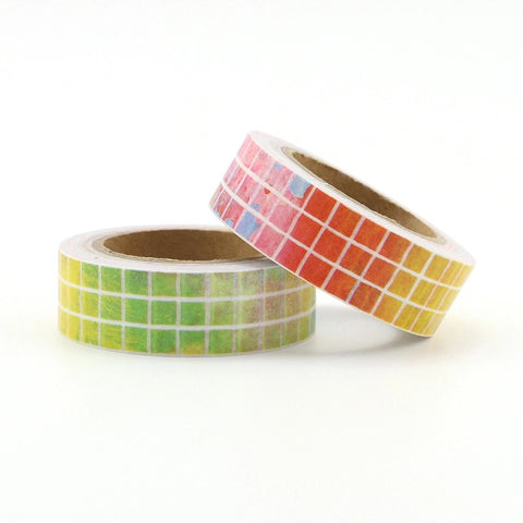 Rainbow Grid Washi Tape