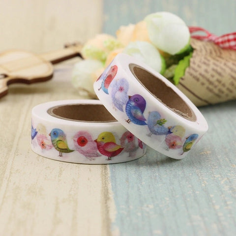 Rainbow Birdies Washi Tape