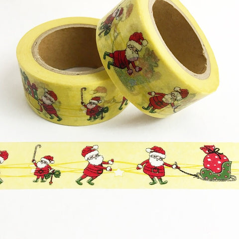 Santa with Presents Wide Washi Tape