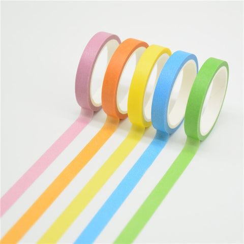 7mm Set of 5 Skinny Washi Tapes