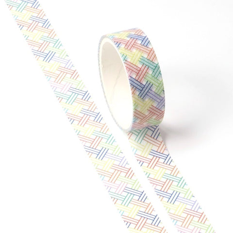 Rainbow Lattice Washi Tape