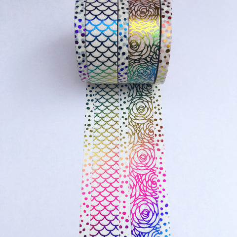Custom Rainbow Foil Washi Tape