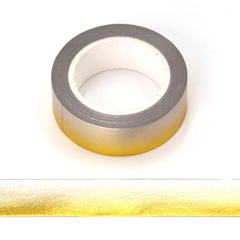 Gold to Gray Ombré Foil Washi Tape