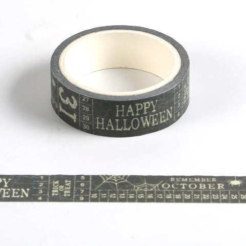 Halloween Text Washi Tape