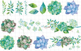 Cool Succulents Wide Washi Tape
