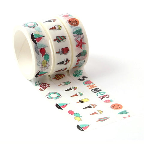 Summer Washi Tape Set of Three