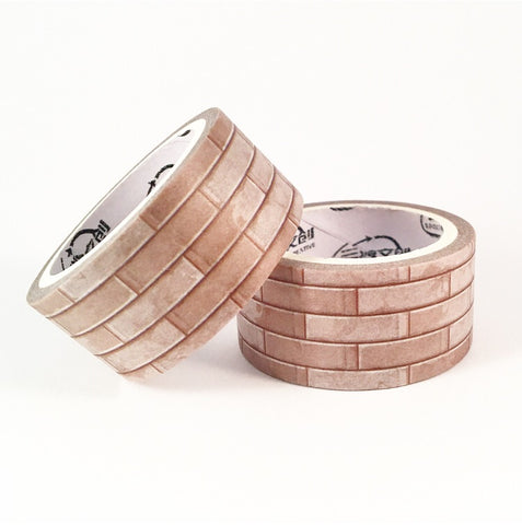 Stone Bricks Wide Washi Tape
