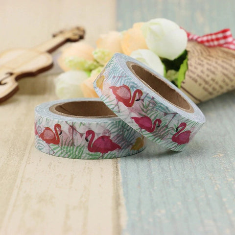 Fun Flamingos Washi Tape