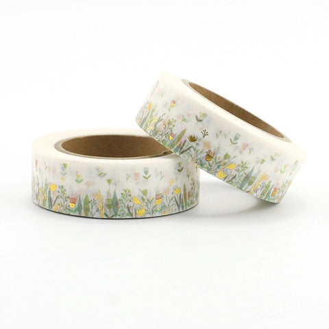 Wildflowers with Foil Accents Washi Tape