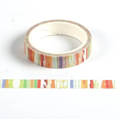 Red Stripe Skinny Washi Tape