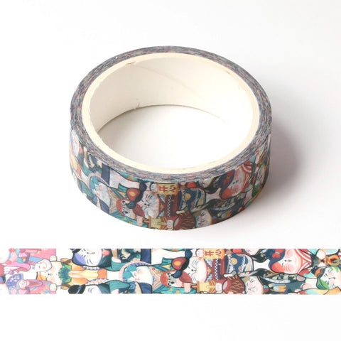 Vertical Kitties Washi Tape