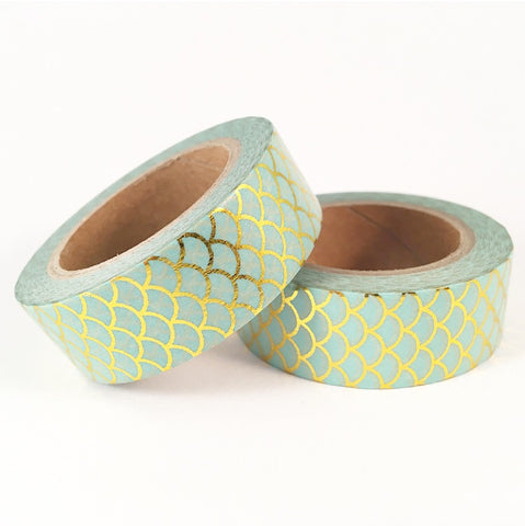 Mint Mermaid Foil Washi Tape