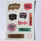 Washi Stickers Four Piece Variety Set