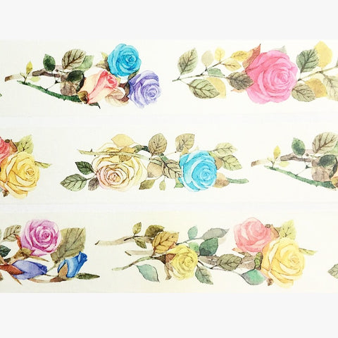 Beautiful Roses Wide Washi Tape