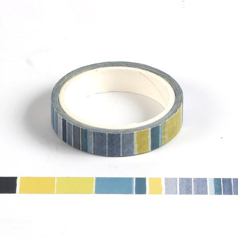 Blue Stripe Skinny Washi Tape