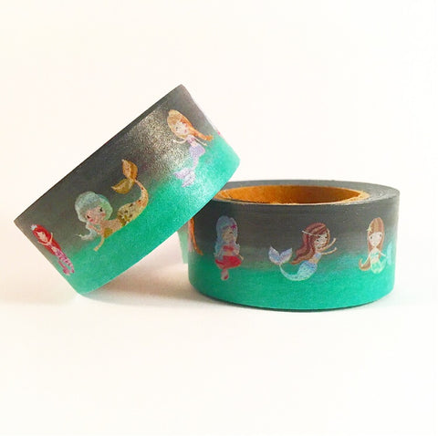 Cute Mermaid Wide Washi Tape