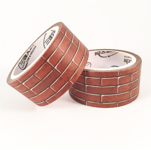 Red Bricks Wide Washi Tape