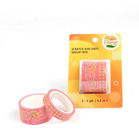Orange Scratch and Sniff Washi - Pink Citrus