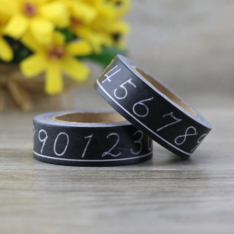Chalkboard Numbers Washi Tape