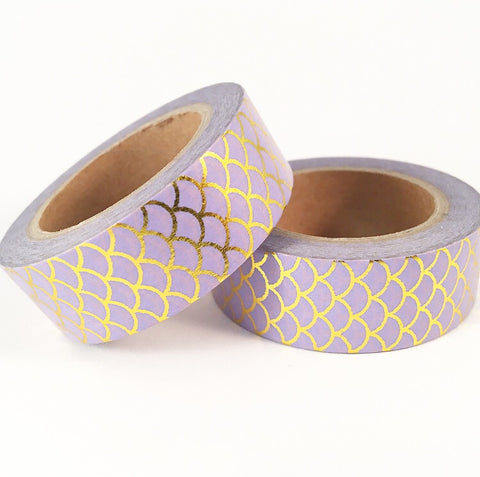 Purple Mermaid Foil Washi Tape