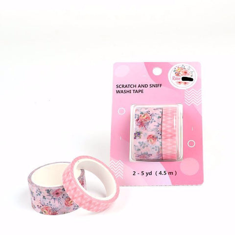 Rose Scratch and Sniff Washi - Floral and Diamonds