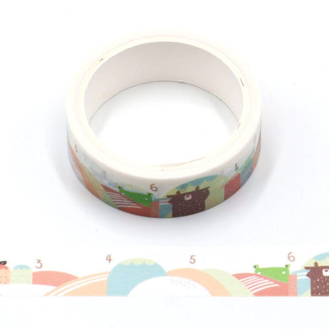 Cartoon Counting Hills Washi Tape