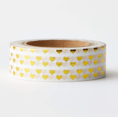 Gold Hearts Washi Tape