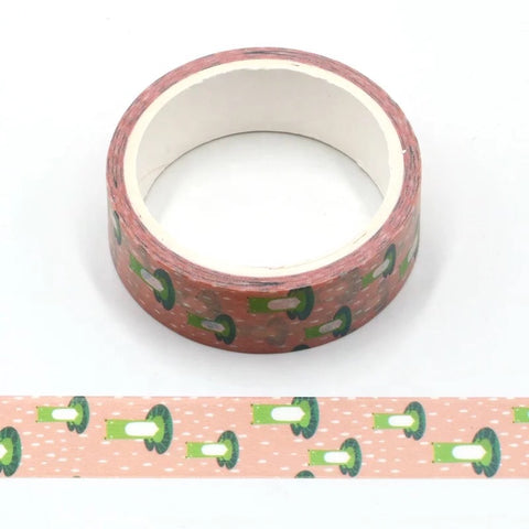 Cartoon Frogs on Lily Pads Washi Tape