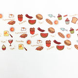 Full Color Foodie Washi Tape