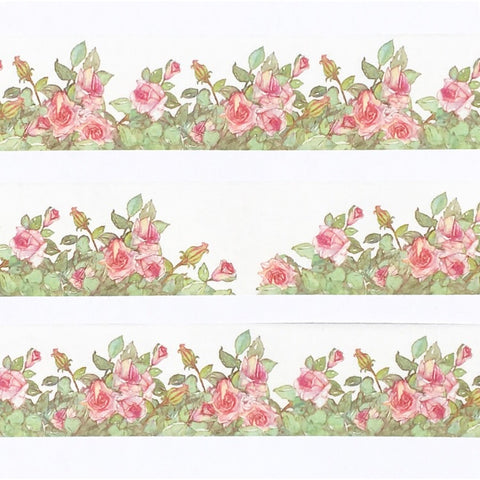 Rose Bush Wide Washi Tape