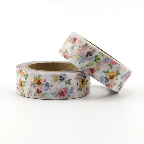 Pastel Pansies Washi Tape