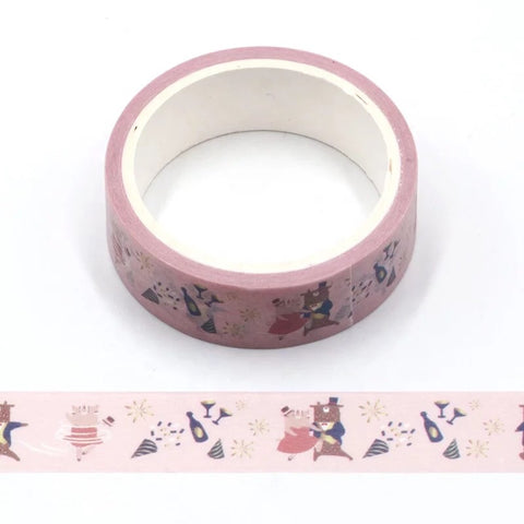 Cartoon Dancing Animals Washi Tape