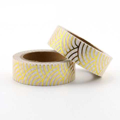 Gold Waves Washi Tape