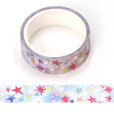 Holographic Foil Stars Washi Tape