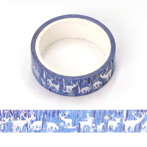 Holographic Foil Deer Washi Tape