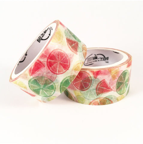 Rainbow Citrus Wide Washi Tape