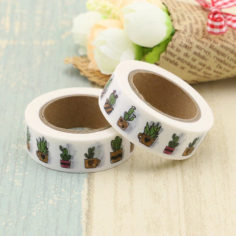 Potted Cacti Washi Tape
