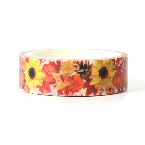 Fall Sunflower Washi Tape