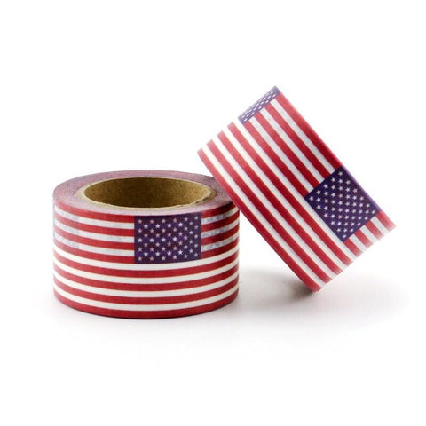 American Flag Wide Washi Tape