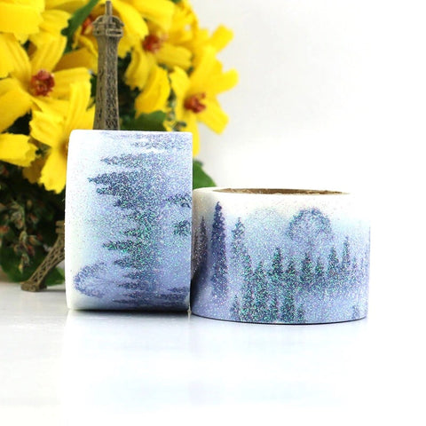 Misty Mountains Wide Glitter Washi Tape
