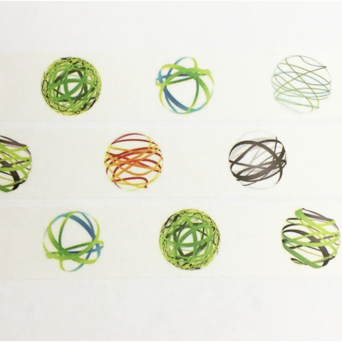 Ribbon Balls Wide Washi Tape