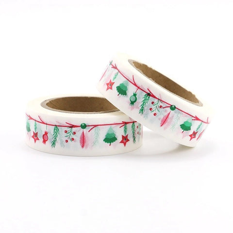 Red and Green Ornaments Washi Tape