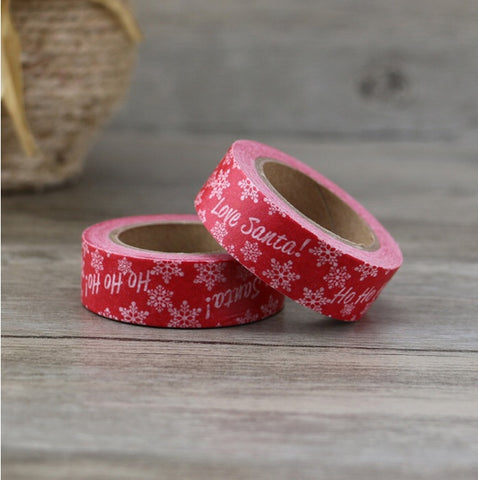 Red Ho Ho Ho Love Santa Washi Tape