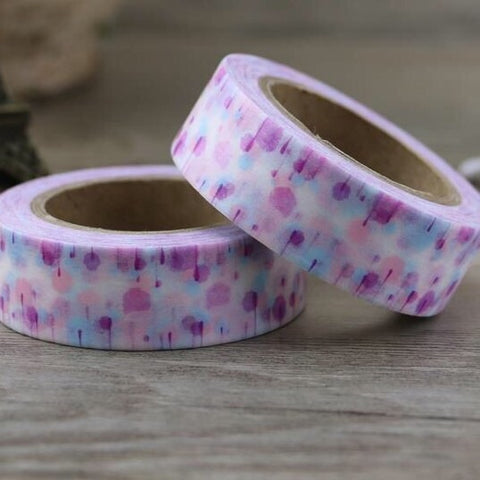 Purple Lollipop Trees Washi Tape