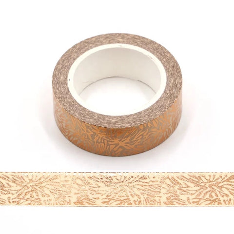 Rose Gold Floral Washi Tape