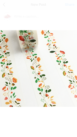 Floral Vine Wide Washi Tape