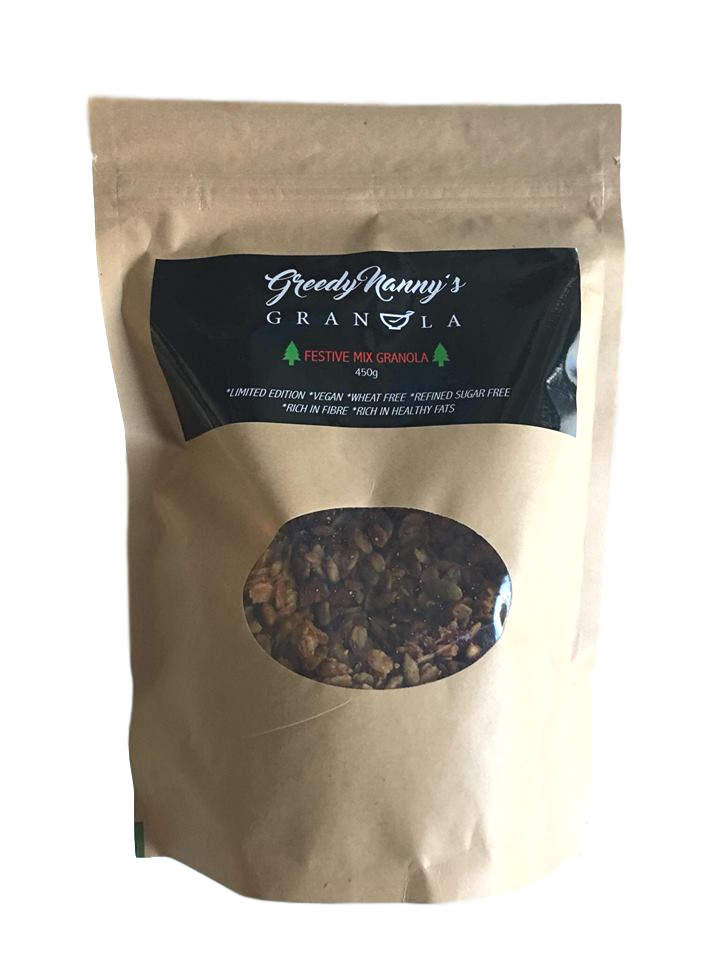 * Limited Edition * Greedy Nanny's Granola - Festival Mix Granola  450g - Move Your Body