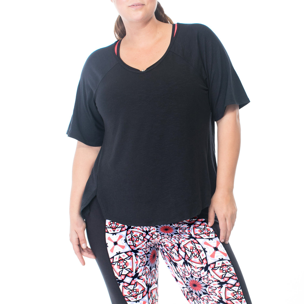 Rainbeau Curves Lila Layer Tee